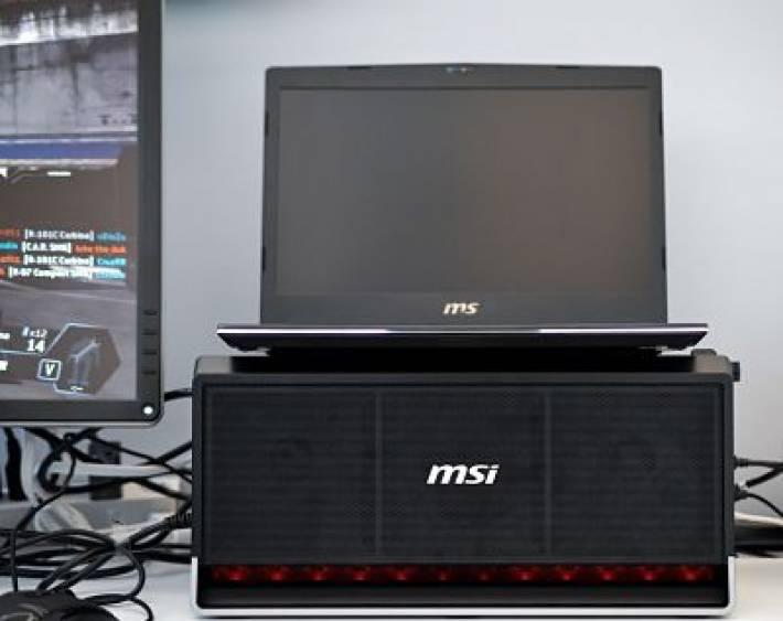 MSI Desvela su nuevo Dock para portátiles para conectar una tarjeta gráfica externa