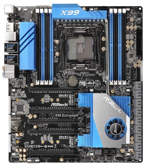 ASRock anuncia la ASRock X99 Extreme 11, una placa con 18 puertos SATA