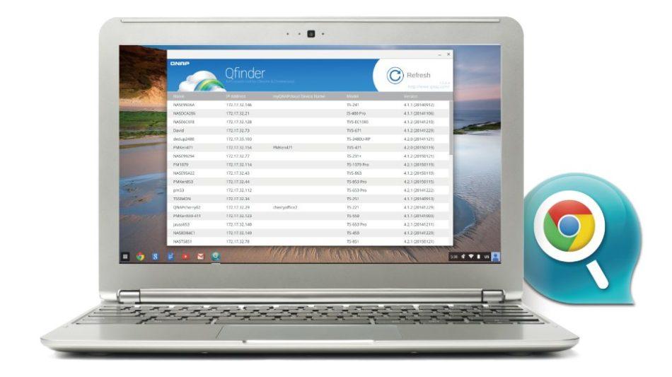 QNAP lanza una versión de su aplicación Qfinder para usuarios de Chromebook