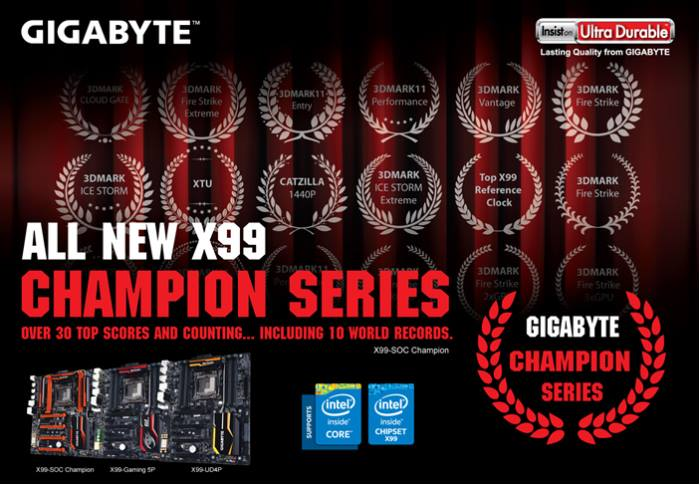 GIGABYTE presenta la nueva serie de placas base X99 Champion