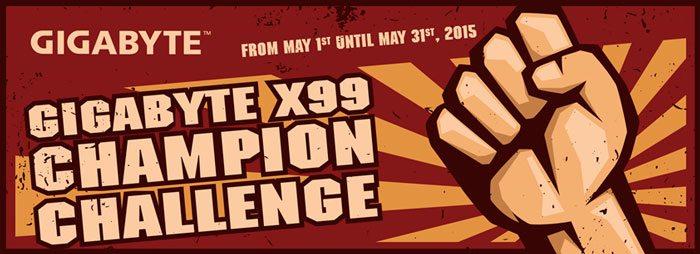GIGABYTE organiza el RETO X99 CHAMPION   en HWBOT.org
