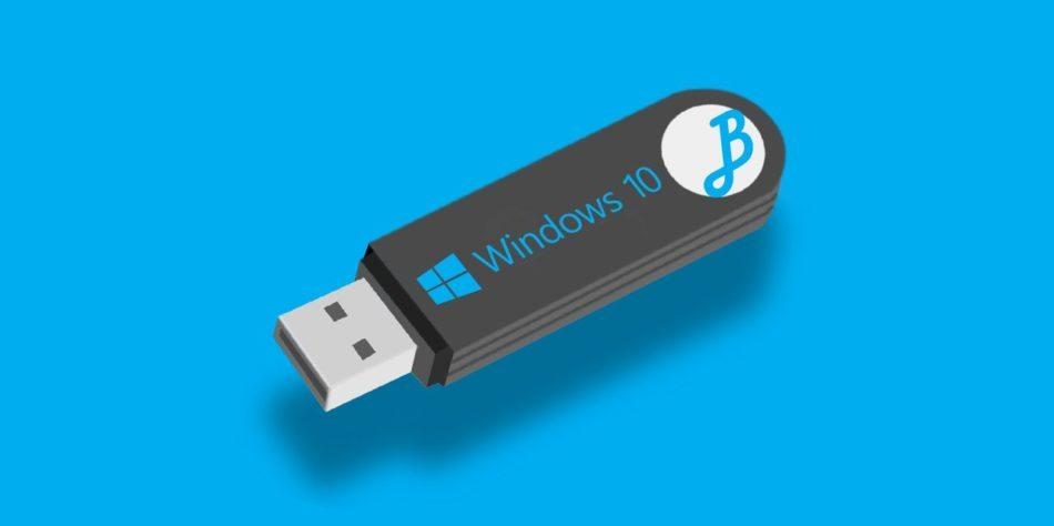 Detalles sobre Windows 10 en USB