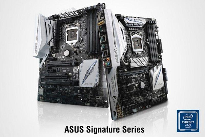 ASUS anuncia la Serie de placas base Z170 Signature