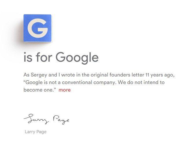 Google ahora se llama Alphabet