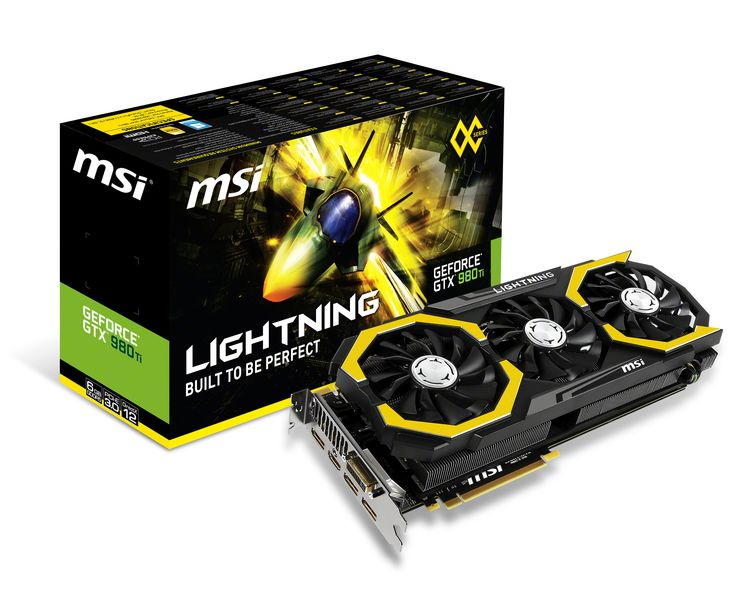 MSI Geforce GTX 980 Ti Lightning fotografiada
