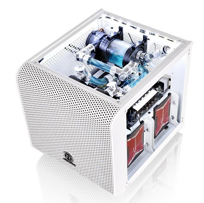 Thermaltake presenta la Core V1 Mini ITX blanca - benchmarkhardware 1