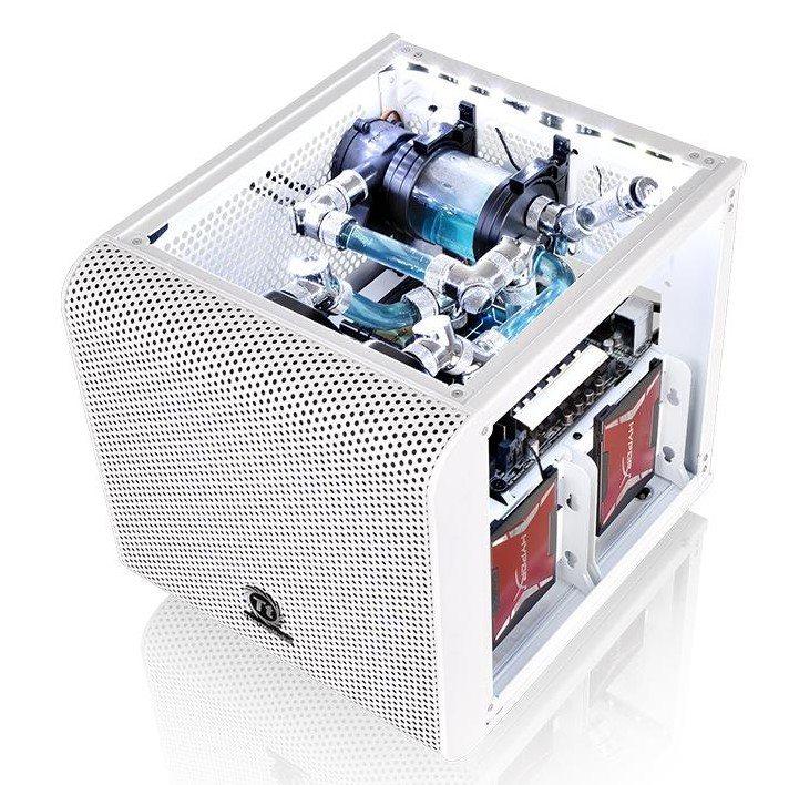 Thermaltake presenta la Core V1 Mini ITX blanca - benchmarkhardware 1