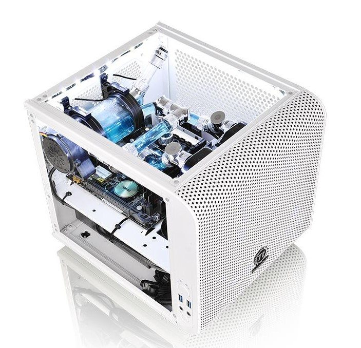 Thermaltake presenta la Core V1 Mini ITX blanca - benchmarkhardware