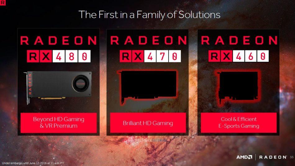 Confirmadas las especificaciones para la AMD RX 470 y RX 460