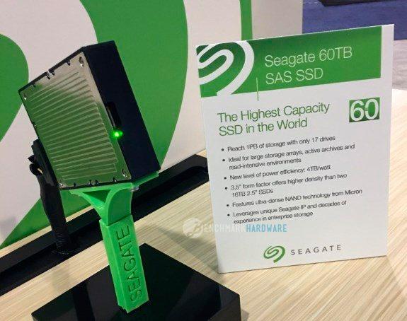 Seagate ha producido un SSD de 60 TB