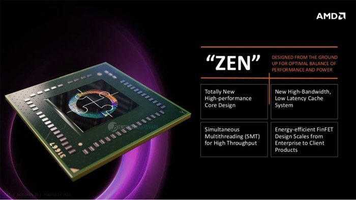 Zen llegará a los portátiles en el segundo cuatrimestre de 2017