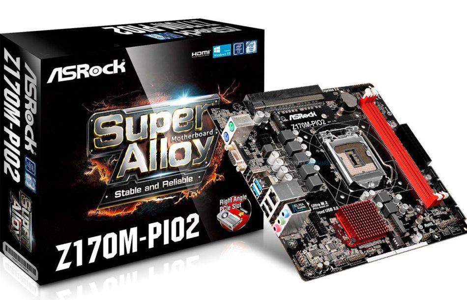 Asrock Z170M-PIO2, una placa con un PCIe inclinado