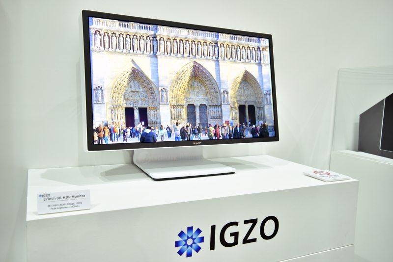 Sharp muestra un prototipo de monitor IGZO 8K HDR