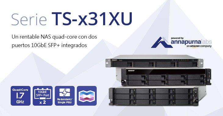 QNAP lanza la serie NAS TS-x31XU de montaje en rack