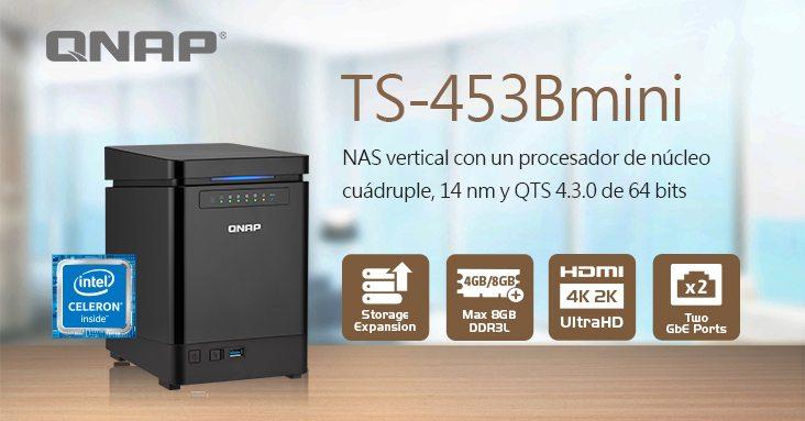 QNAP anuncia sus NAS TS-453Bmini con salida 4K