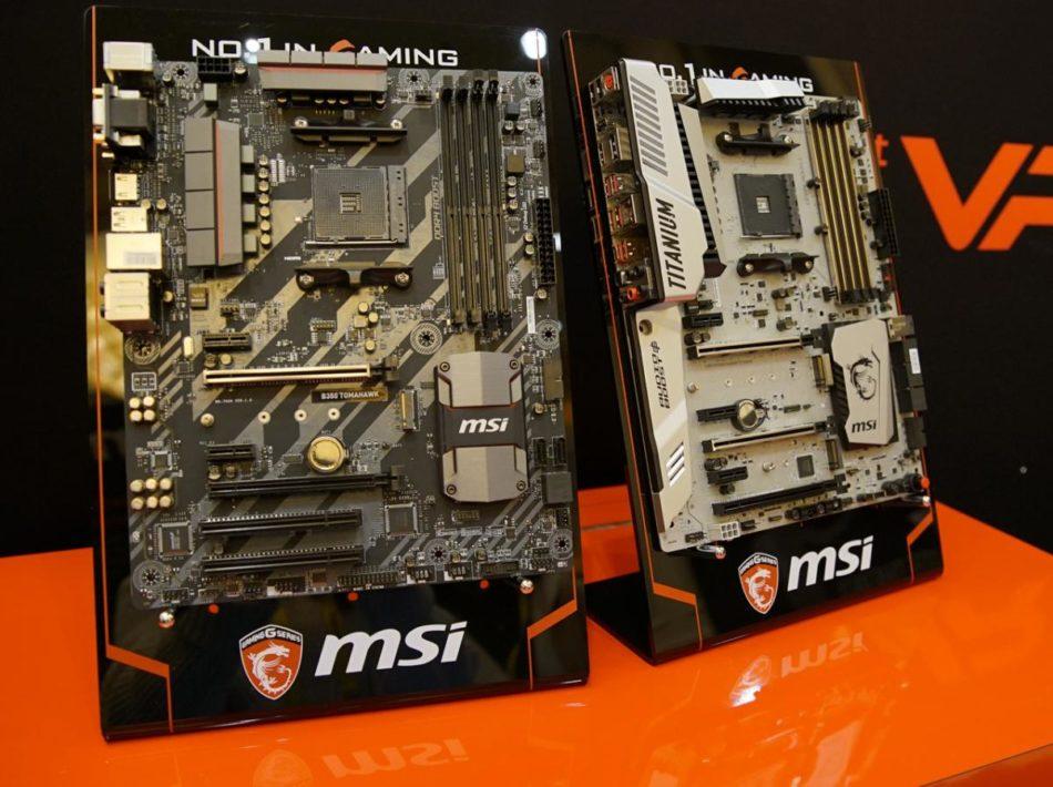MSI presenta su gama de placas base AM4