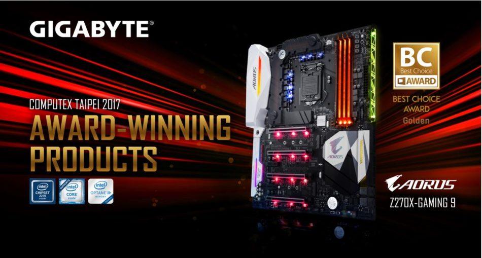 Computex 2017: Computex premia la placa Gigabyte Aorus Z270X Gaming 9