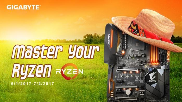 GIGABYTE anuncia el Master Your Ryzen™ 2017