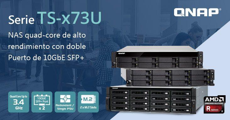 QNAP lanza el NAS TS-x73U de montaje en rack con CPU AMD