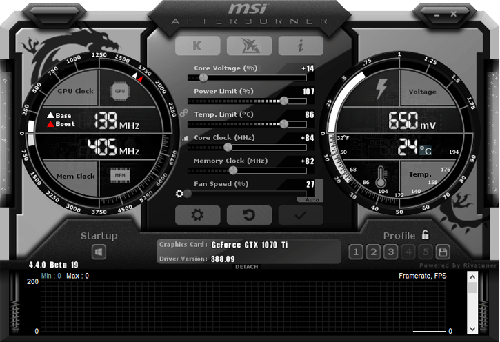 MSI AfterBurner GeForce GTX 1070 Ti