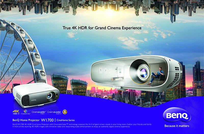 BenQ presenta el primer proyector asequible de cine en casa DLP auténticamente UHD 4K