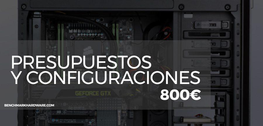 Presupuesto PC Gaming 800€ – Abril 2018