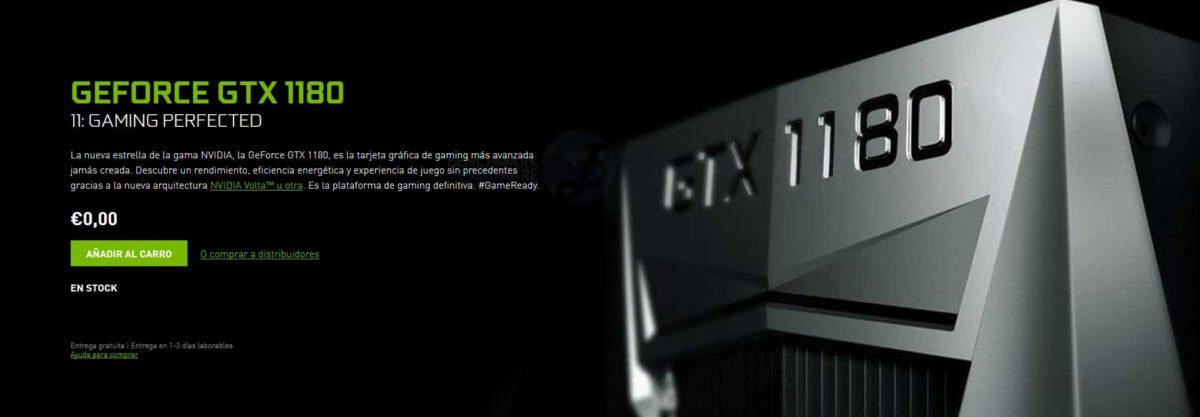 La NVIDIA GeForce GTX 1180 aparece en GFXBench