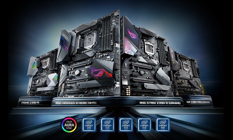 ASUS presenta las nuevas series de placas base Intel Z390