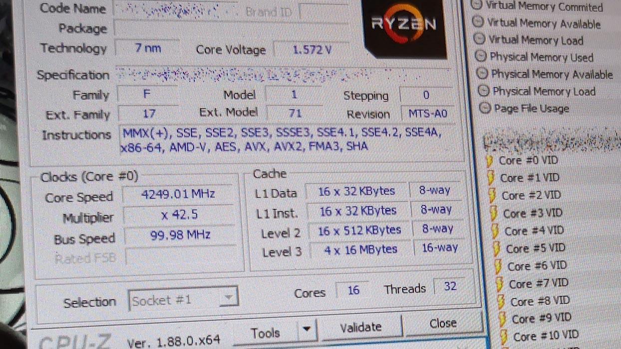 AMD Ryzen 9 - CPU-Z