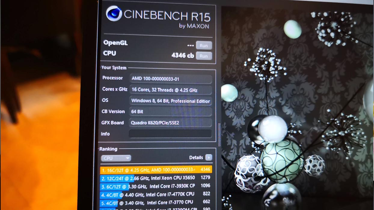 AMD Ryzen 9 - Cinebench R15