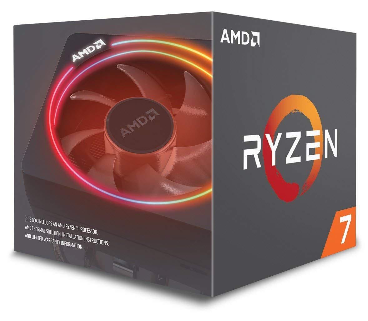 AMD Ryzen 7 2700X - Procesador con disipador de calor Wraith Prism (20 MB, 8 núcleos, velocidad de 4.35 GhZ, 105 W)