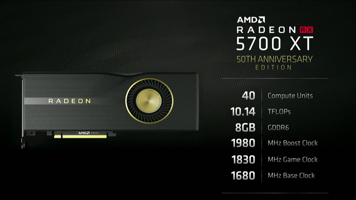 AMD RX 5700 XT 50th Aniversary Edition
