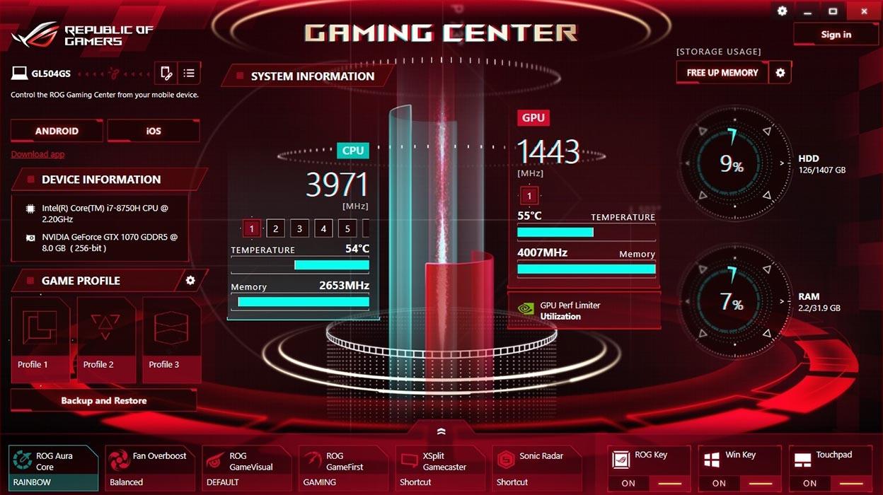 Asus Gaming Center