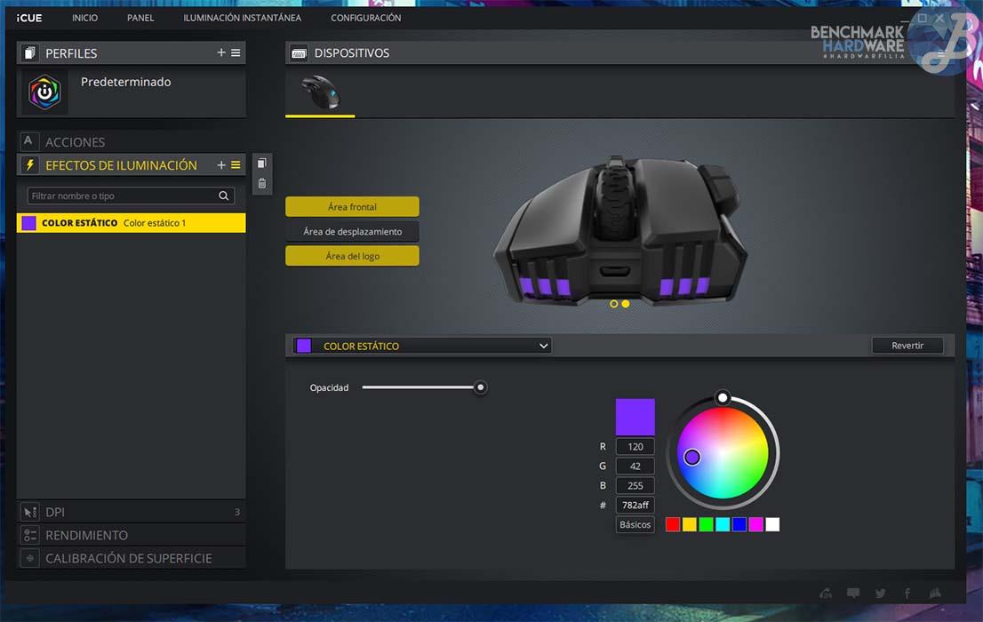 Corsair iCUE - Personalización RGB