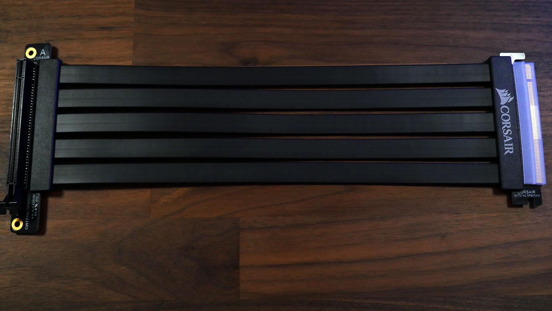 Corsair Riser PCIe x16 - Tamaño