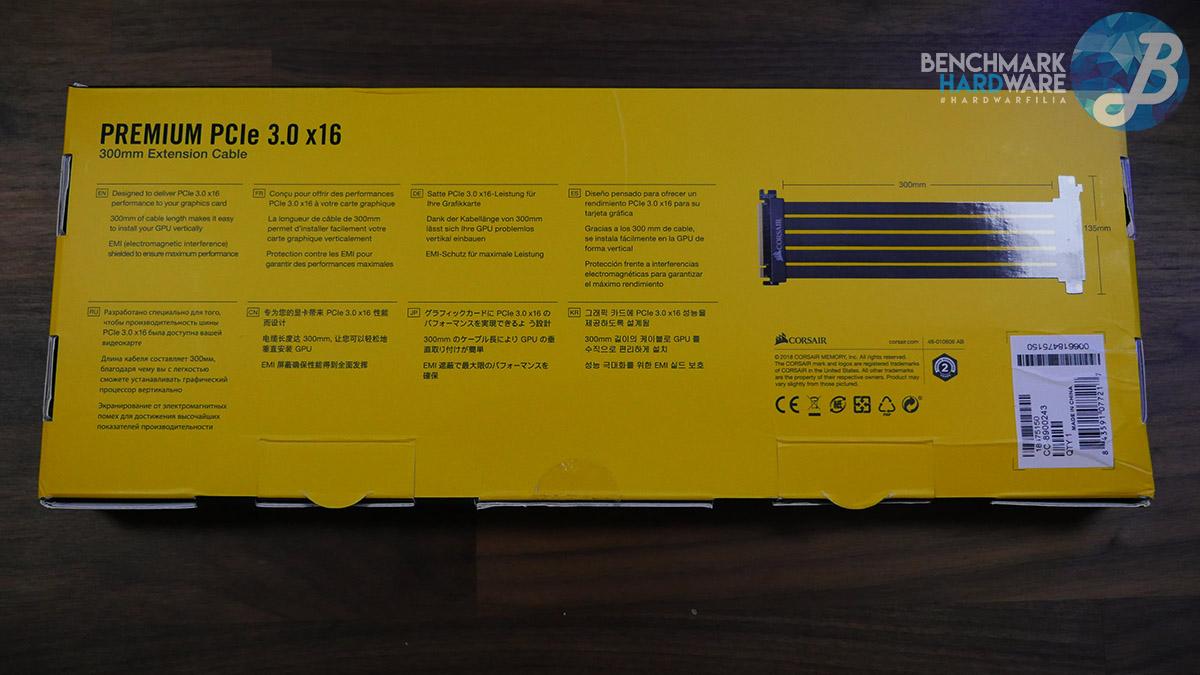 Corsair Riser PCIe x16 -Packaging