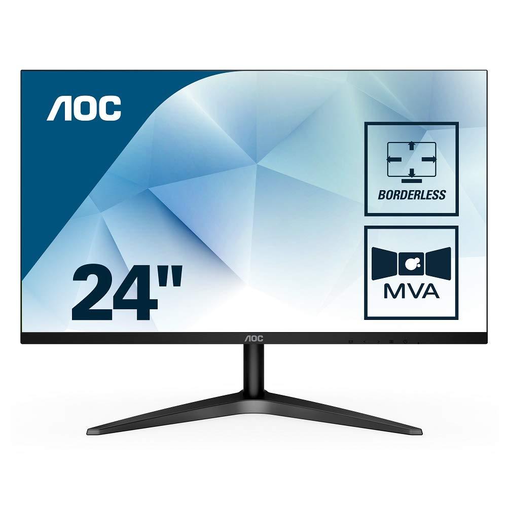 """AOC 24B1H – Monitor MVA de 24"""" con Pantalla Full HD (MVA, HDMI, Sin Bordes, Ultrafino, Flicker Free y Low Blue Light)"""