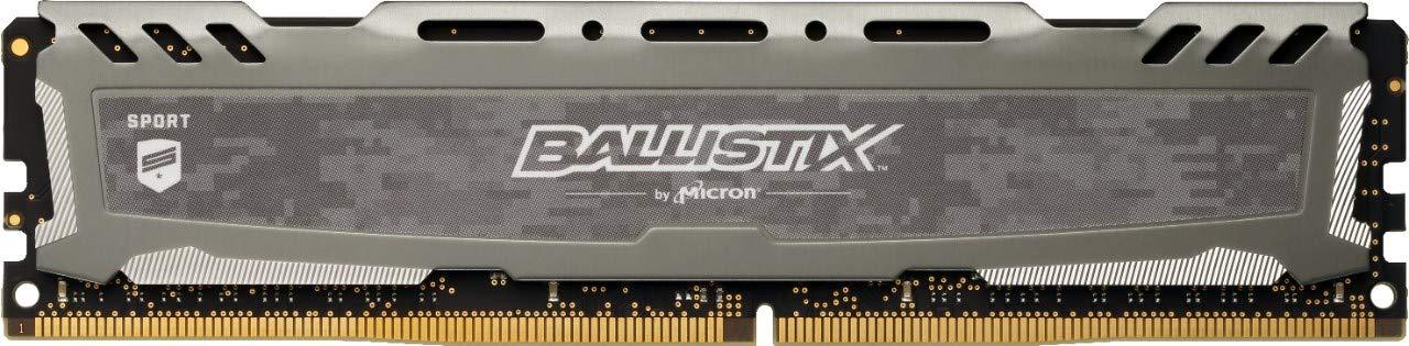 Ballistix Sport LT BLS16G4D30AESB Memoria RAM de 16GB (DDR4, 3000 MT/s, PC4-24000, CL15, Dual Rank x8, DIMM, 288-Pin) Gris