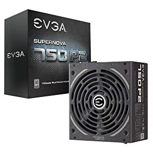 EVGA SuperNOVA 750 P2, 80+ PLATINUM 750W, completamente modular, modo EVGA ECO, incluye auto probador de encendido GRATIS, fuente de alimentación 220-P2-0750-X2