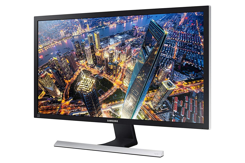 "Samsung U28E570DS - Monitor para PC Desktop de 28"" 4K (3840 x 2160 Pixeles, Flicker-Free, FreeSync, HDMIx2, Display Port, 1ms, 60Hz), Negro metálico, plata"