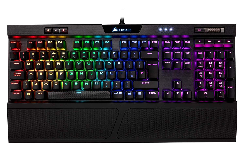 Corsair K70 RGB MK.2 Rapidfire - Teclado Mecánico Gaming, Retroiluminación LED RGB, QWERTY Español, (Cherry MX Speed)