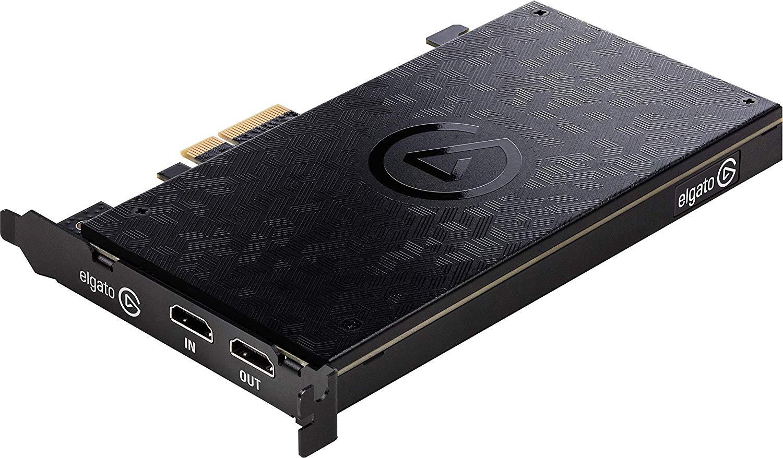 Elgato Game Capture 4K60 Pro - Capturadora de juegos (Xbox 360, PlayStation o Nintendo) con una imagen de 4k y 60 fps, tecnología de latencia ultrabaja, PCIe x4, Negro