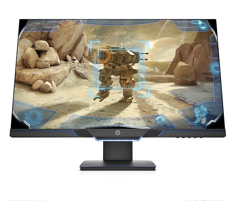 """HP 27MX - Monitor (27"""", velocidad de 144 Hz, Tecnología AMD FreeSync, iluminación ambiental, 1920 x 1080 a 60 Hz) color negro"""