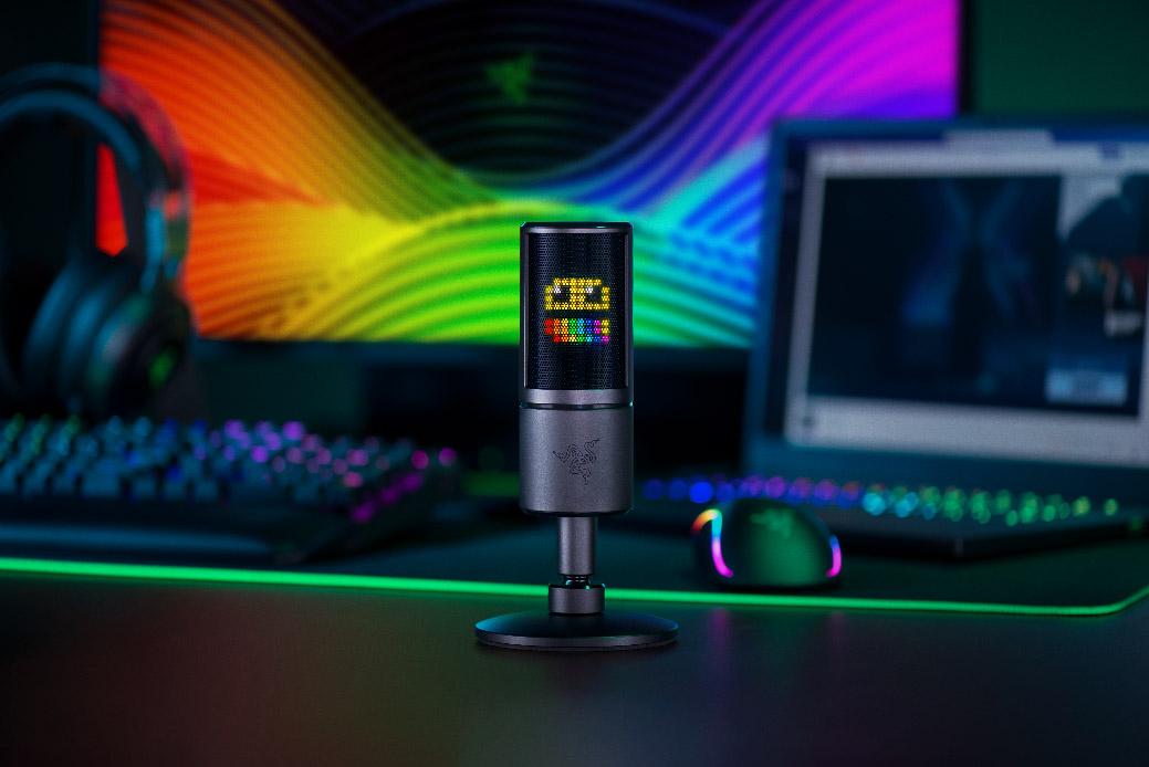 Razer anuncia su microfono Razer Seiren Emote pensado para los streamers