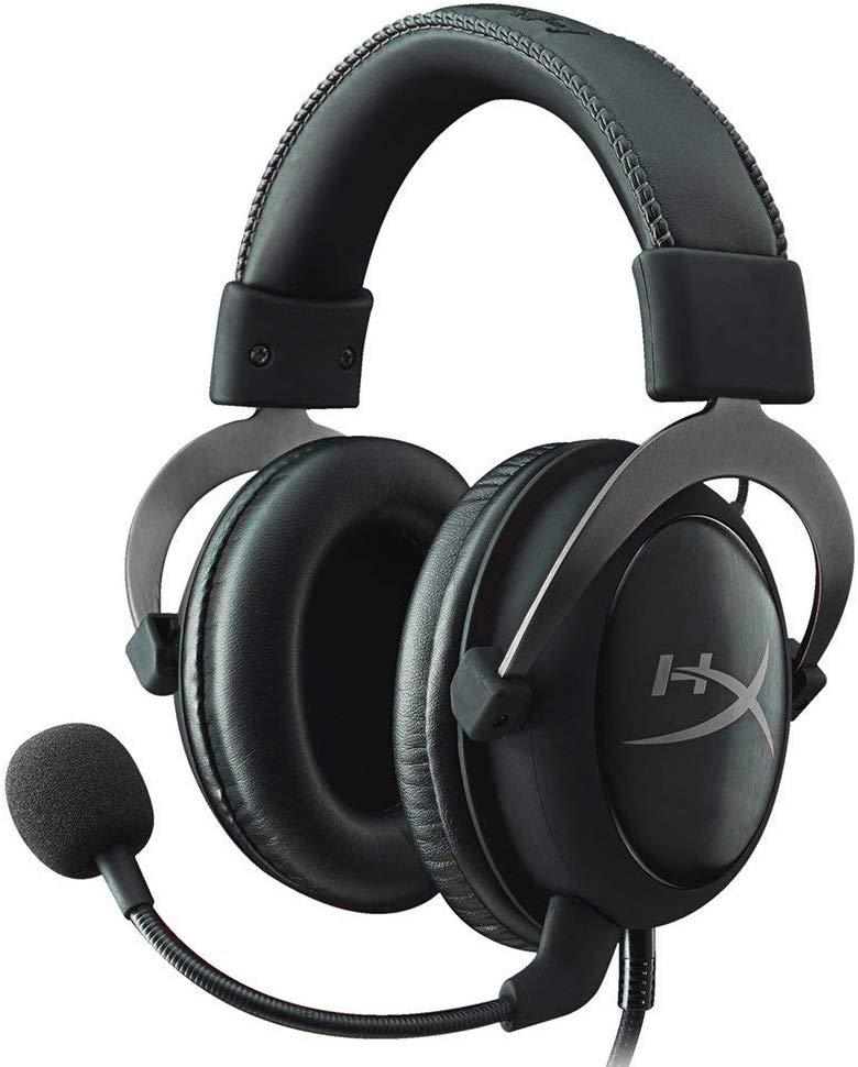 HyperX Cloud II - Auriculares gaming de diadema cerrados con micrófono (para PC/PS4/Mac), metálico