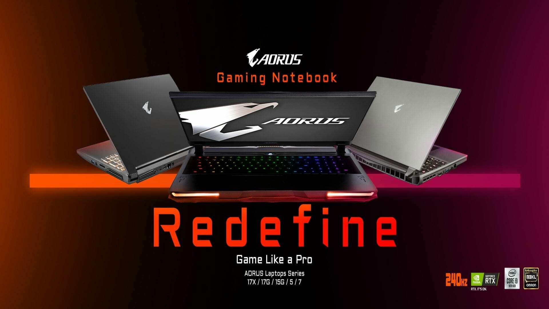 GIGABYTE presenta los nuevos modelos de portátiles gaming AORUS y de equipos para creadores AERO
